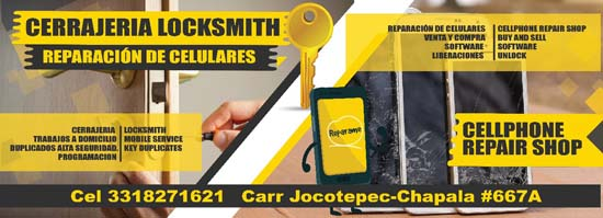 Locksmith Shop and Cell Phone Repair Center San Juan Cosala